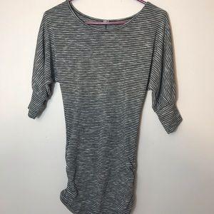 POOF! 3/4 length sleeve striped shirt
